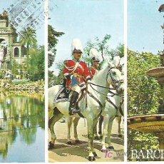 Postales: Nº 9 - BARCELONA , CASCADA DE LA CIUDADELA **ESCUDO DE ORO *** CIRCULADA 1974. Lote 7125220