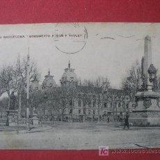 Postales: BARCELONA - MONUMENTO A RIUS Y TAULET. Lote 7149320
