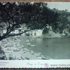 Postales: PALAFRUGELL PLAYA DE TAMARIU. Lote 26362490