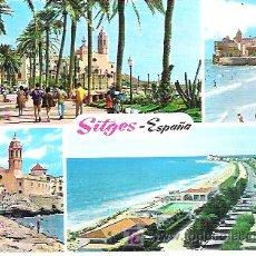 Postales: Nº136 SITGES - PLAYA DE ORO ****GASSO *** SN CIRCULAR. Lote 7233340