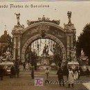 Postales: BARCELONA. RECUERDO FIESTAS DE BARCELONA. PLAZA CATALUÑA: TEMPLETE. (LB, TEXTO DORADO). POST FOTOGR . Lote 12320510