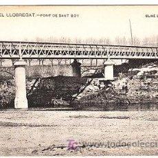 Postales: POSTAL DE PLA DEL LLOBREGAT Nº93, PONT DE SANT BOI, ENSENYANSA CATALANA. Lote 7282922