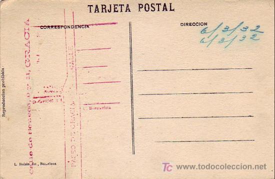 Postales: BARCELONA: TIBIDABO (ALT. 532 M.) - GRAN ATALAYA (ALT. 50 M.). L. ROISIN. - Foto 2 - 7320727