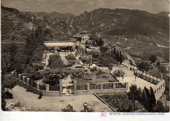 POSTAL DE BERGA - MESON DEL CASTILLO -GRAN HOTEL (Postales - España - Cataluña Moderna (desde 1940))