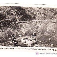 Postales: POSTAL DE NURIA (PIRINEO ORIENTAL) EL SANTUARIO, DESDE EL TELESILLA DEL PICO DEL AGUILA (1955). Lote 27611440