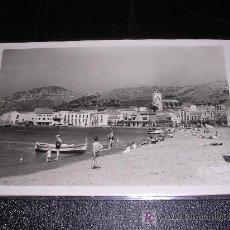 Postales: PORT DE LA SELVA (COSTA BRAVA) 16 PLAYA, FOTS. MELI-14X9 CM. . Lote 7544591