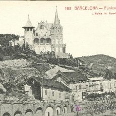 Postales: BARCELONA. FUNICULAR DEL TIBIDABO.. Lote 7550851