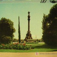 Postales: BARCELONA AÑOS 50 MONUMENTO A COLÓN TRANVÍA SIN CIRCULAR. Lote 7573752