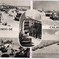 Cartes Postales: TARRAGONA, CALAFELL. DIVERSOS ASPECTOS DE LA PLAYA. FOTO RAYMOND. CIRCULADA. Lote 7579644