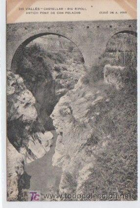 POSTAL DE ENSENYANSA CATALANA Nº313, CASTELLAR, RIU RIPOLL (Postales - España - Cataluña Antigua (hasta 1939))