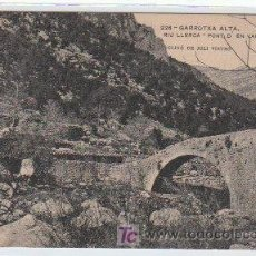 Postales: POSTAL DE ENSENYANSA CATALANA Nº226, RIU LLERCA, PONT D'EN VALENTI. Lote 7627923