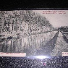Postales: 15 TORTOSA, ( ROQUETAS ) CANAL DEL EBRO, FOT. R.BORRELL. Lote 7819488