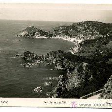 Postales: TOSSA LAS ILLETAS Y LA VILA- FRANQUEADA Y ESCRITA 1951 (VER FOTO). Lote 26654247