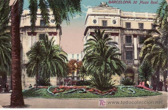BARCELONA. 50 PLAZA REAL.CIRCULADA.VER FOTO ADICIONAL. (Postales - España - Cataluña Antigua (hasta 1939))