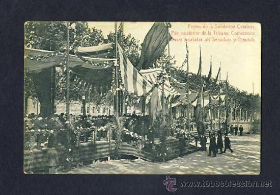 POSTAL DE BARCELONA: FESTES DE LA SOLIDARITAT CATALANA. CATALANISTA. (THOMAS) (Postales - España - Cataluña Antigua (hasta 1939))