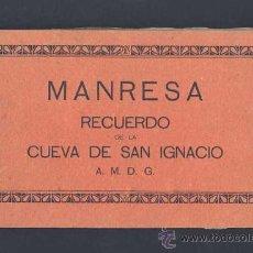 Postales: LLIBRET AMB 24 POSTALS DE MANRESA: RECORD DE LA COVA DE SANT IGNASI (MUMBRU)(VEURE FOTOS ADICIONALS). Lote 8196578