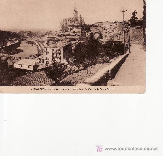 2.MANRESA.LA CIUDAD DE MANRESA VISTA DESDE LA CASA DE LA SANTA CUEVA.HUECOGRABADO.MUMBRU. (Postales - España - Cataluña Antigua (hasta 1939))