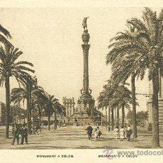 Postales: BARCELONA. MONUMENTO A COLÓN.. Lote 8447796