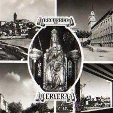 Postales: N.7 CERVERA, DIVERSOS ASPECTOS DE LA CIUDAD, FOTO RAYMOND. Lote 8566515
