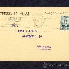 Postales: POSTAL DE TERRASSA (BARCELONA): POSTAL COMERCIAL DE AYMERICH I AMAT DE 1933 (VEURE FOTO ADICIONAL). Lote 8645364