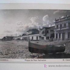 Postales: POSTAL EL VENDRELL (TARRAGONA) PLAYA SAN SALVADOR. Lote 39467860