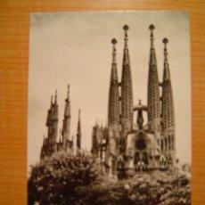 Postales: TARJETA POSTAL BARCELONA LA SAGRADA FAMILIA CIRCULADA. Lote 8710662