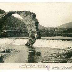 Postales: OLOT, PONT ROMANIC DE CASTELLFULLIT DE LA ROCA. Lote 8719271