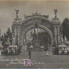 Postales: FIESTAS DE BARCELONA. ARCO - PLAZA DE CATALUÑA. (POSTAL FOTOGRAFICA). (FOT. BELTRA). Lote 12320501