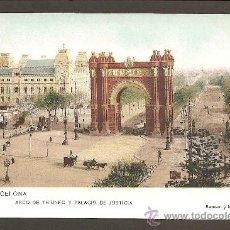 Postales: BARCELONA. 15. ARCO DEL TRIUNFO Y PALACIO DE JUSTICIA. SAMSOT Y MISSÉ HS. SIN DIVIDIR. Lote 27353845