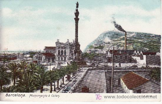 BARCELONA. MONUMENTO A COLON. NO CIRCULADA, NO DIVIDIDA. (Postales - España - Cataluña Antigua (hasta 1939))