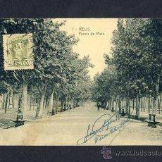 Postales: POSTAL DE REUS: PASSEIG DE MATA (ED.TRICAZ I FUMADÓ NUM.7). Lote 8971854