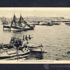 Postales: POSTAL DE TARRAGONA: VISTA DE LA CIUTAT DES DEL PORT BARQUES BARCAS (ED.SUC.R.GABRIEL GIBERT NUM.58). Lote 8978043