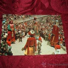 Postales: BERGA LA PATUM ELS GEGANTS,FOTO CINE LUIGI,ARTES GRAFICAS SABADELL 1967. Lote 9017720