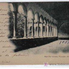 Postales: SANT CUGAT DEL VALLÉS - EL CLAUSTRO - FOT. GRAU - CIRCULADA SELLO ALFONSO XIII AÑO1903. Lote 26570559
