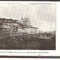 Postales: BARCELONA. TIBIDABO. ESTACIÓN INFERIOR DEL FUNICULAR Y CHALET DE ARNÚS.. Lote 27278385