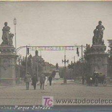 Postales: BARCELONA. PARQUE. ENTRADA. SATURNO PARQUE. (FOTÓGRAFO B Y P, 60). POSTAL FOTOGRÁFICA. . Lote 9083566