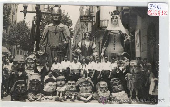 (PS-6812)POSTAL FOTOGRAFICA DE MATARO-GIGANTES Y CABEZUDOS (Postales - España - Cataluña Moderna (desde 1940))