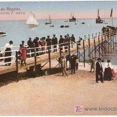 Postales: 2-MASNOU,BARCELONA-LAS REGATAS-EDICION C.ORTA, ROISIN-LITOGRAFICA, ESCRITA-VELL I BELL. Lote 25861309