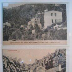 Postales: LOTE 2 POSTALES ANTIGUAS MONTSERRAT (HOTEL, ABSIDE). Lote 9221945