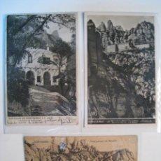 Postales: LOTE 3 POSTALES ANTIGUAS MONTSERRAT (19,1,...). Lote 9221961