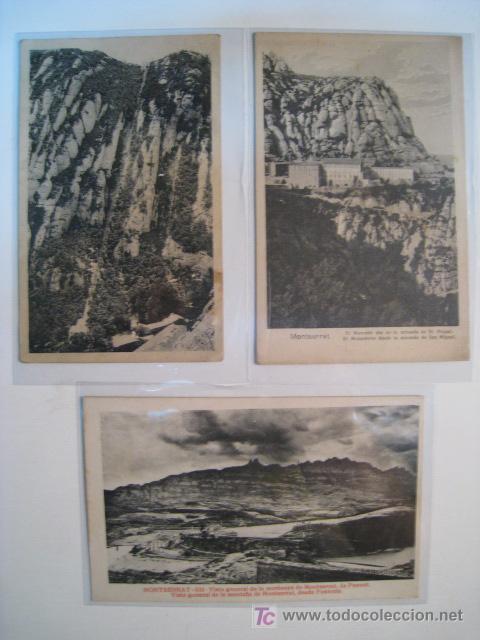 LOTE 3 POSTALES ANTIGUAS MONTSERRAT (532,1,...) (Postales - España - Cataluña Antigua (hasta 1939))