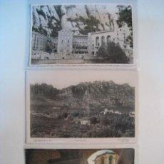 Postales: LOTE 3 POSTALES ANTIGUAS MONTSERRAT (15,8). Lote 9221980