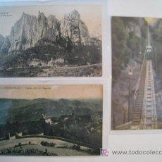 Postales: LOTE 3 POSTALES ANTIGUAS MONTSERRAT (16,...). Lote 9221991