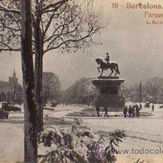Postales: 19 BARCELONA - NEVADA PARQUE, L.ROISIN FOTOGRAFO, FOTOGRAFICA. Lote 9273564