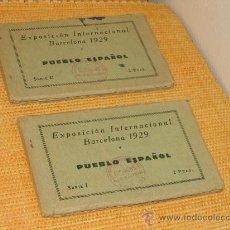Postales: POSTALES. BARCELONA: AÑO 1929: DOS CUADERNILLOS DE LA EXPOSICIÓN INTERNACIONAL.. Lote 26942131