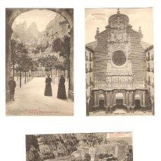 Postales: 3 POSTALES ANTIGUAS DE MONTSERRAT. Lote 9289660