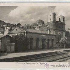 Postales: (PS-7059)POSTAL DE PALLEJA-ESTACION FERROCARRIL E IGLESIA. Lote 9402845