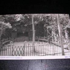Postales: ARGENTONA - MANANTIAL BURRIACH, FOTO. A.GÜELL. Lote 9463551