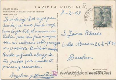 Postales: COSTA BRAVA. PORT DE LA SELVA. PLAYA DE TAVALLERA. - Foto 2 - 11551565