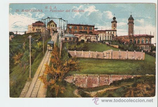 BARCELONA - FUNICULAR DEL TIBIDABO (Postales - España - Cataluña Antigua (hasta 1939))